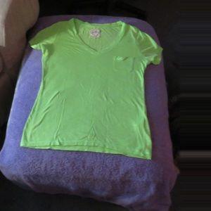 Hollister women's Lime Green tee shirt size Small